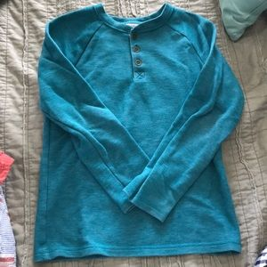 Turquoise cat and Jack boys long sleeve sweater
